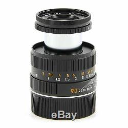 Leica Leitz 90mm F4 Macro-elmar-m Black Set 6-bit + Box 11629 #2803