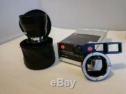 Leica Leitz 90mm F4 Macro-elmar-m E39 + Macro-adapter-m 14409 + Hood