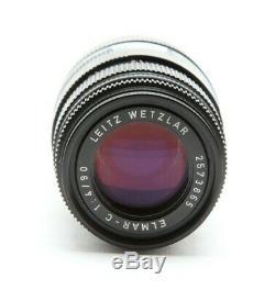 Leica Leitz 90mm f4.0 Elmar-C Rangefinder M Mount Lens With Rubber Hood #31612