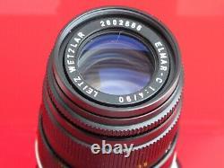 Leica Leitz 90mm f4 Elmar-C CL with a rear cap/hood, US SELLER NICE LQQK