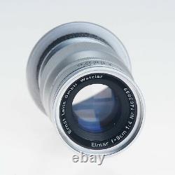 Leica Leitz 9cm F4 Elmar 35mm Rangefinder Telephoto Lens