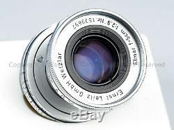 Leica Leitz ELMAR 5cm 50mm f2.8 LTM M39 Year 1957 + Caps