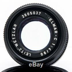 Leica Leitz ELMAR C 90mm 14 f4 Black Rigid Lens M Bayonet Mount M3 M9 CLE etc