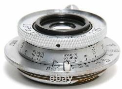 Leica Leitz Elmar 3,5/3,5cm Screw Mount M39 chrome clean glass
