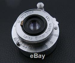 Leica Leitz Elmar 3.5cm 35mm f/3.5 Lens L39 L with Rear Cap 654860