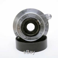Leica Leitz Elmar 3.5cm 35mm f/3.5 Lens Screw Mount L39 L 1936 with Caps