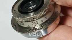 Leica Leitz Elmar 3.5cm 35mm f/3.5 Prime Lens M39 with Case & Caps UK Fast post