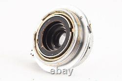 Leica Leitz Elmar 3.5cm 35mm f/3.5 Wide Angle Lens M39 with Caps Very Rare V12