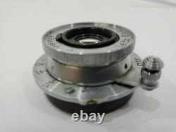Leica Leitz Elmar 3.5cm 35mm f3.5 Uncoated L39 Screw Mount Lens