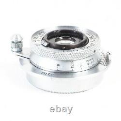 Leica Leitz Elmar 3.5cm 35mm f3.5 Uncoated L39 Screw Mount Lens #3040 (Read)