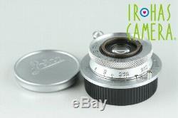 Leica Leitz Elmar 35mm F/3.5 Lens for Leica L39 #25602 C1