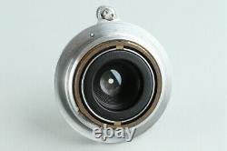 Leica Leitz Elmar 35mm F/3.5 Lens for Leica L39 #30039 E6