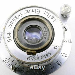 Leica Leitz Elmar 35mm F3.5 L39 screw mount lens Yr. 1948 LTM Germany