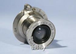 Leica Leitz Elmar 50mm f/3.5 Prime Lens Nickel c1933 Screw L39 LTM 39mm