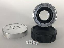 Leica / Leitz Elmar 50mm f2.8 LTM Fit Lens With E39 Uva Filter And ITOOY Hood