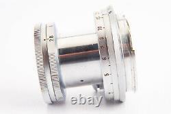 Leica Leitz Elmar 5cm 50mm f/2.8 Rangefinder Lens w Cap in Case for M Mount V12