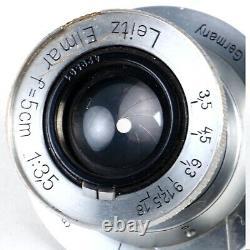 Leica Leitz Elmar 5cm 50mm f3.5 Collapsible L39 LTM Screw Mount Lens (Read)