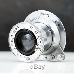 Leica Leitz Elmar 5cm 50mm f3.5 Collapsible LTM L39 Screw Mount Lens
