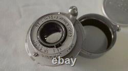 Leica Leitz Elmar 5cm (50mm) f3.5 RED SCALE 1954 collapsible LTM L39 screwmount