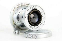 Leica Leitz Elmar 5cm 50mm f3.5 Red Scale Triangle LTM L39 Screw Mount Lens