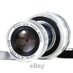 Leica Leitz Elmar 9cm 90mm f4 Collapsible M Mount Lens CLA'D EX+++