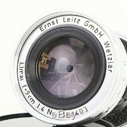 Leica Leitz Elmar 9cm 90mm f4 Collapsible M Mount Lens MINT