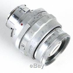 Leica Leitz Elmar 9cm (90mm) f4 Collapsible M Mount Lens (Read)