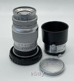 Leica Leitz Elmar 9cm f/4 L39 Thread Mount, withoriginal Hood, 1950