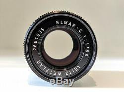 Leica Leitz Elmar C 90 mm M mount f 4 CL M6 M3 M4 Summilux Summicron 90mm f4