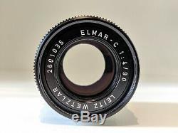Leica Leitz Elmar-C 90mm f4 4 M Mount Lens CL M9 M8 M3 M6 M7