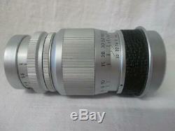 Leica Leitz Elmar Chrome 9cm (90mm) 14 Lens + Caps #1464166 + Filter & Cap