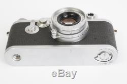 Leica Leitz IIIf red dial camera + Elmar 5cm 12.8 lens (Leica LTM M39 mount)