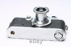 Leica Leitz Iiif Black Dial Bd #417023 Camera + Elmar 50mm F/3.5 Ltm Lens, Case