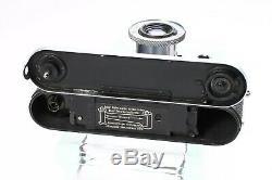 Leica Leitz Iiif Red Dial 35mm Rangefinder Ltm Camera Elmar 5cm 50mm F/3.5 Lens