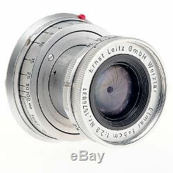 Leica Leitz M 5CM 50mm F2.8 Elmar Standard Rangefinder Lens Separation