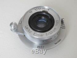 Leica Leitz SM LTM 35mm f3.5 coated Elmar lens #654xxx, NICE LQQK