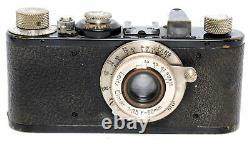 @ Leica Leitz Standard black/nickel camera with Elmar 3.5/50mm lens