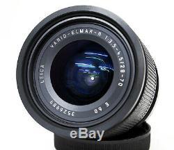 Leica Leitz Vario-elmar-r 28-70 F/3,5-4.5 Con Custodia Originale In Pelle Nera