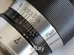 Leica Leitz Wetzlar Black Paint Elmar 9cm f4 LTM M39 Screw Mount w Bakelite MINT