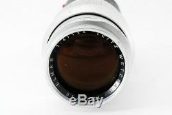 Leica Leitz Wetzlar Elmar 135mm F4 Silver Chrome Lens From Japan Very good