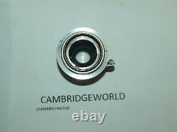 Leica Leitz Wetzlar Elmar 5cm 50mm F3.5 COLLAPSIBLE L39 Screw Mount Lens METRIC