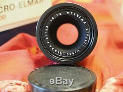 Leica Leitz Wetzlar Macro Elmar 100mm F4 (bellows Lens) Boxed