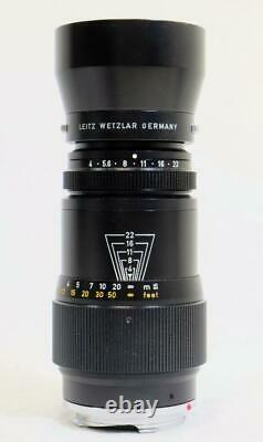 Leica Leitz Wetzlar Tele-Elmar 135mm f/4.0, M Mount, Case & Hood CLEAN! (9407)