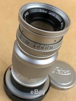 Leica M 9cm F/4 Elmar 90mm Ernst Leitz GmbH Wetzlar Lens M-Mount Clean