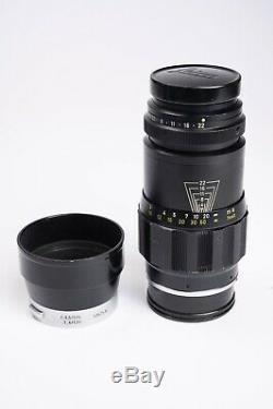 Leica-M Ernst Leitz Wetzlar Tele-Elmar 135mm F4 Telephoto Lens Clean with Shade