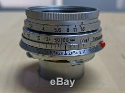 Leica M Mount 5cm f/2.8 Elmar Collapsible Ernst Leitz GmbH Wetzlar