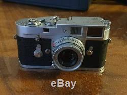 Leica M2 Camera Film + Elmar 50mm Lens Leitz Silver Gift Rare Amazing Self Timer
