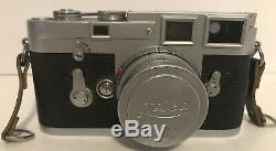 Leica M3 Ernst Leitz Wetzlar Camera with Leitz Wetzlar Elmar 12.8 / 50 Lens