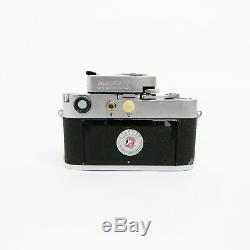 Leica M3 double stroke with MR-4 light meter and Leitz Elmar 50mm F/3.5 Lens