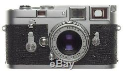 Leica M3 rangefinder35mm film camera ELMAR 2.8 f=5cm Collapsible lens case Leitz